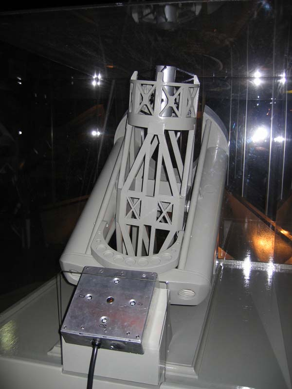 A scale model of the Hale Telescope.
