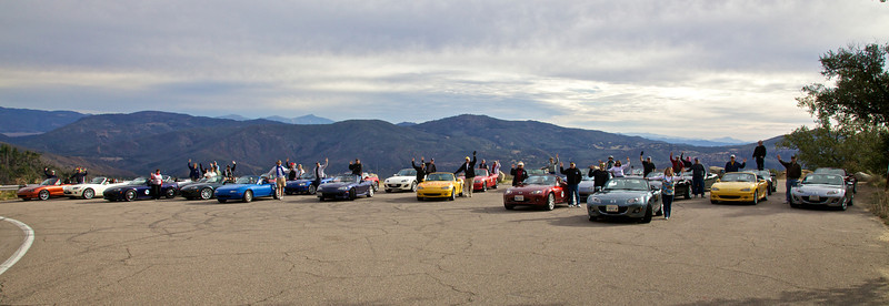 We paused for a photo-op near the top of Palomar Mountain.
