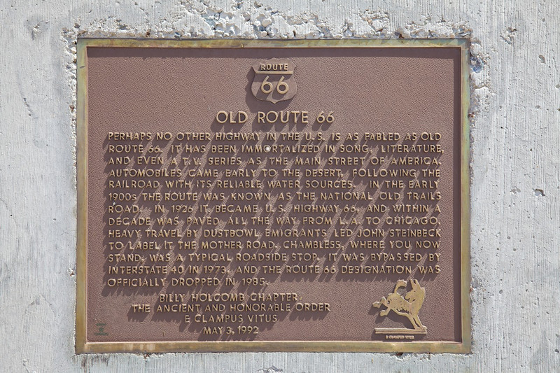 Day 13: The Route 66 Marker near Amboy, CA.