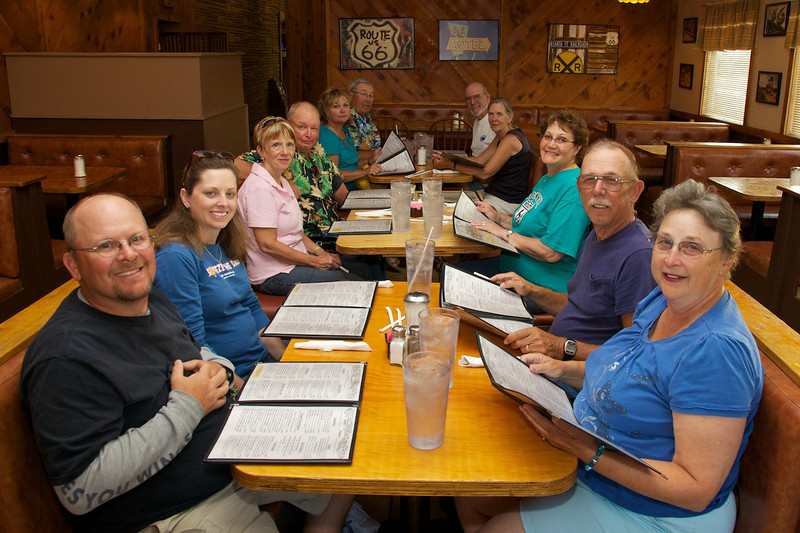 Day 12: Group photo at the Wagon Wheel Restaurant.