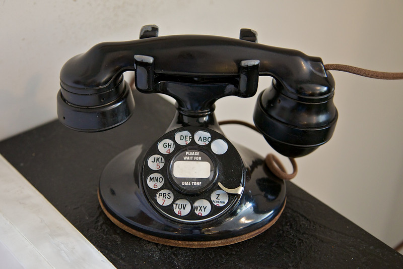 Day 1: This phone is still in daily use at the Plams Cafe.