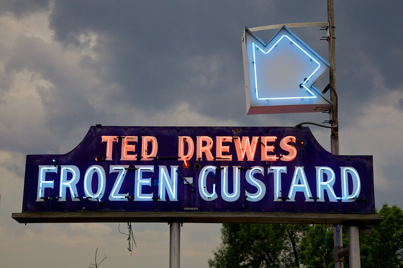 Day 2: Back on Route 66, our next stop is Ted Drewes Frozen Custard in St. Louis, MO.