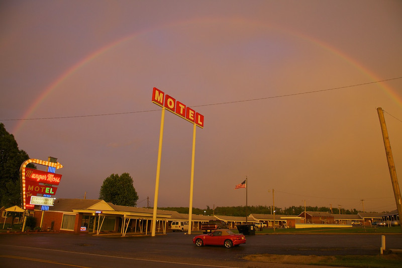 Day 4: Lebanon is 130 miles northeast of Joplin, MO.  The storm system that spawned the tornado that destroyed much of Joplin is the very same storm system that created this rainbow.