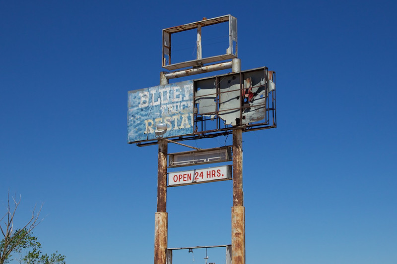 Day 10: Former site of the Bluewater Truck Stop in Bluewater, NM.