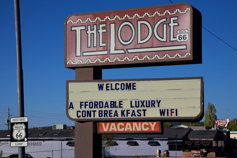 Day 11: The Lodge on Route 66 in Williams, AZ.  The Lodge is one of our favorite motels on The Mother Road!