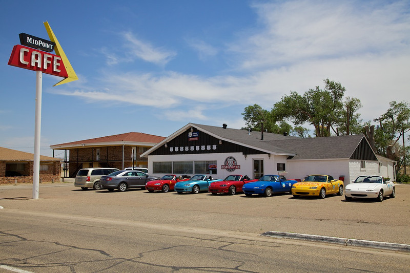 """Day 8: The famous MidPoint Cafe in Adrian, TX.  The MidPoint is another must-stop attraction.  The burgers are excellent and the """"ugly crust"""" pies are phenomenal!"""