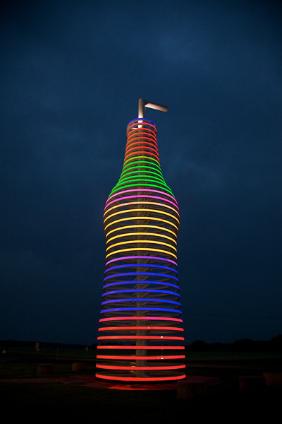 Day 6: The 66-foot tall lighted soda bottle at Pops is a real eye-catcher!