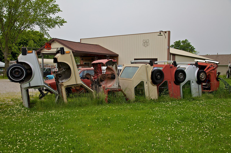 Day 2: Henry's Rabbit Ranch is famous for its Volkswagen Rabbit tribute to Cadillac Ranch.