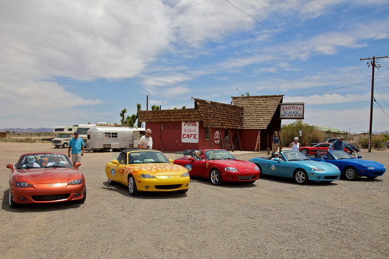 """Day 13: At the Bagdad Cafe near Newberry Springs, CA.  Previously known as the """"Sidewinder Cafe"""", the movie """"Bagdad Cafe"""" was filmed here and the name stuck."""