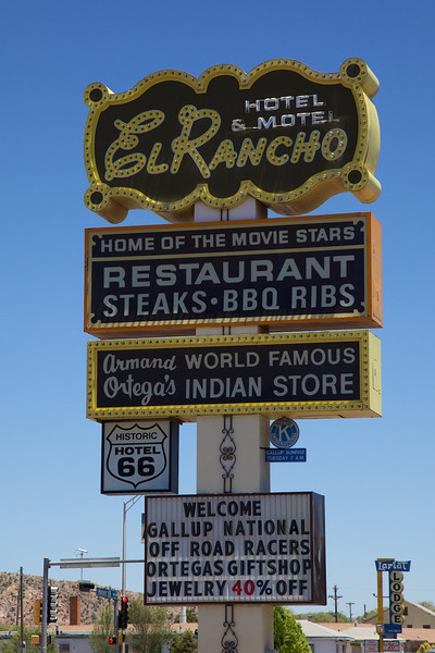 Day 10: At the El Rancho Motel in Gallup, NM.