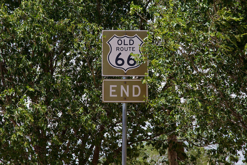 Day 8: Sign at the end of a closed alignment of Route 66 in Vega, TX.
