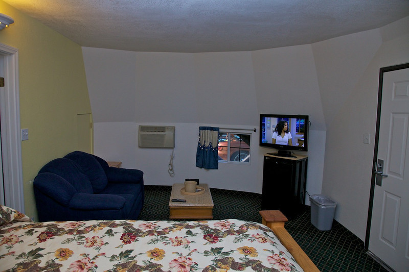 Day 14: A peek inside our WigWam at the WigWam Motel.