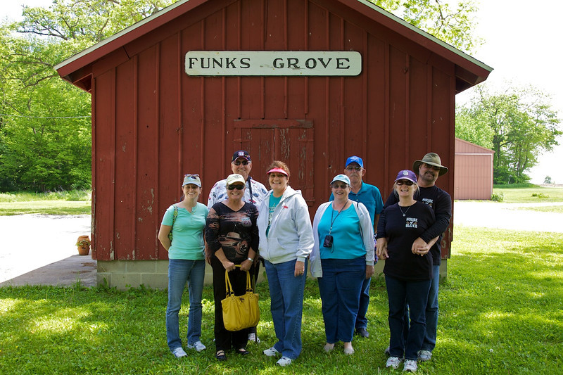 Day 1: These folks are smiling because they just purchased Funks Grove Maple Sirup.