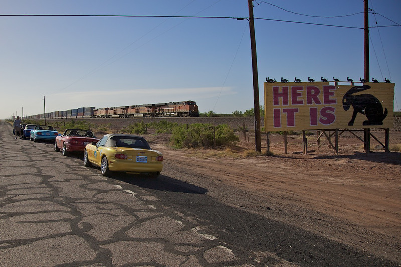 Day 11: The famous sign at the Jack Rabbit Trading Post in Joseph City, AZ.
