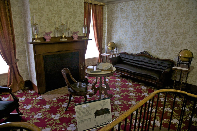 Day 2: The Lincoln home Back Parlor.
