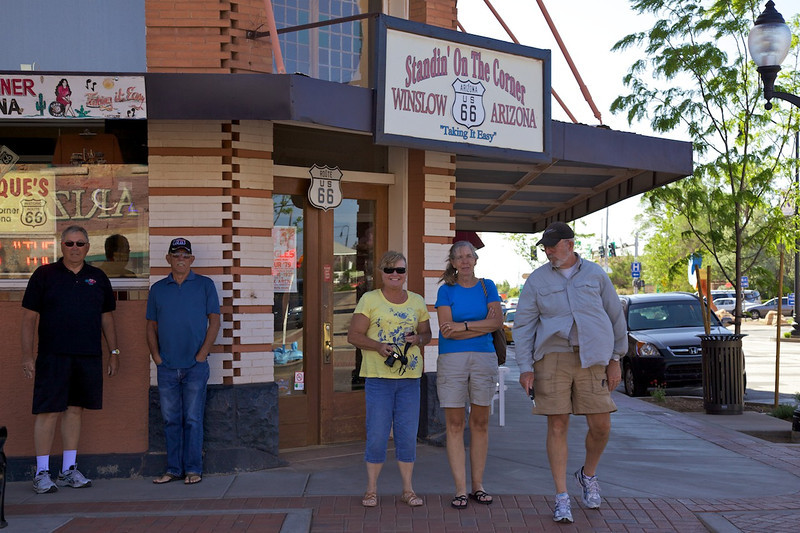 Day 11: Standing on a corner in Winslow, AZ.