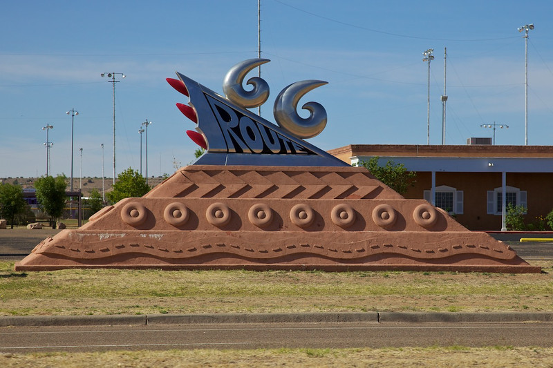 Day 9: The Route 66 sculpture, minus the adventurers.