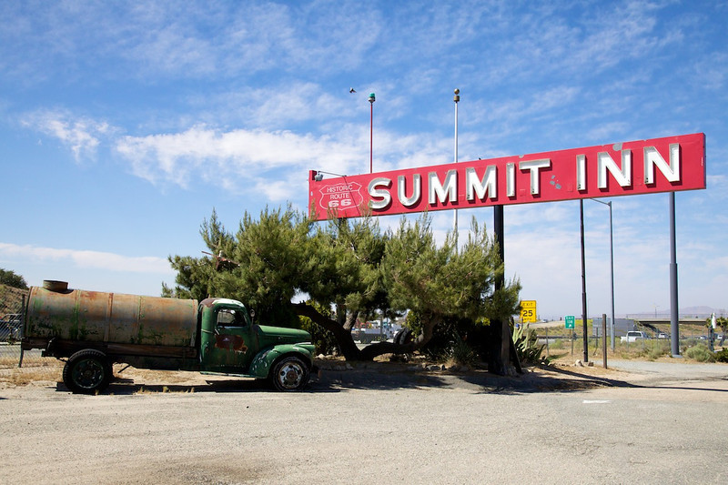 Day 13: Time for a refreshment break at the Summit Inn at Cajon Summit, CA.