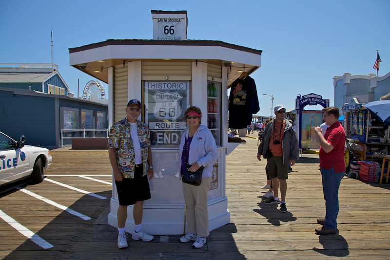 Day 14: At the 66 to Cali Gift Shop on the Pier in Santa Monica, CA.
