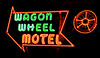 Day 3: The neon sign at the famous Wagon Wheel Motel in Cuba, MO.  Beautifully restored, The Wagon Wheel Motel is a must-stop for every Route 66 traveler!