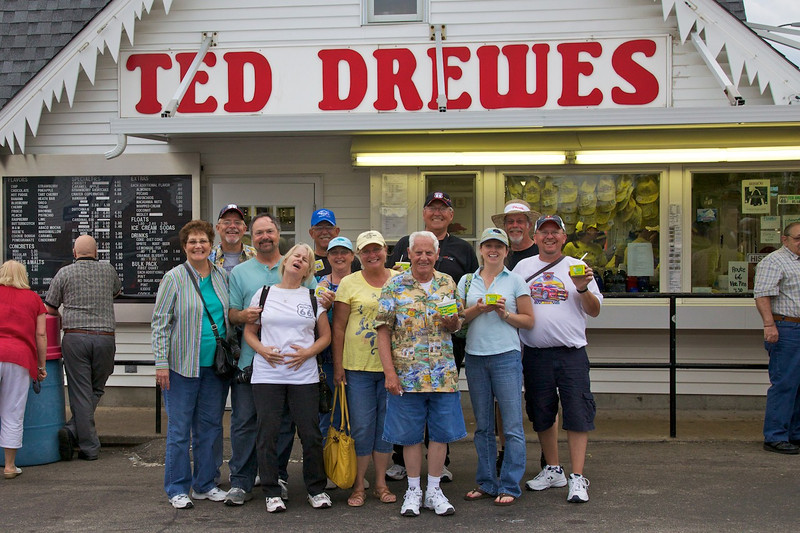 Day 2: Ted Drewes is popular for good reason, the frozen custard was awesome.  Ted Drewes is a must-stop for every Route 66 adventurer.  Just don't eat too much like Jill did.