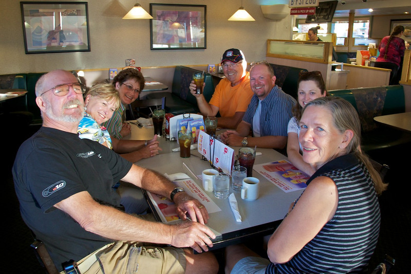 Day 10: Dinner at Denny's in Holbrook, AZ.