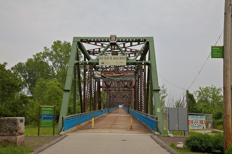 Day 2: The Chain of Rocks Bridge from the Missouri side of the Mississippi River.
