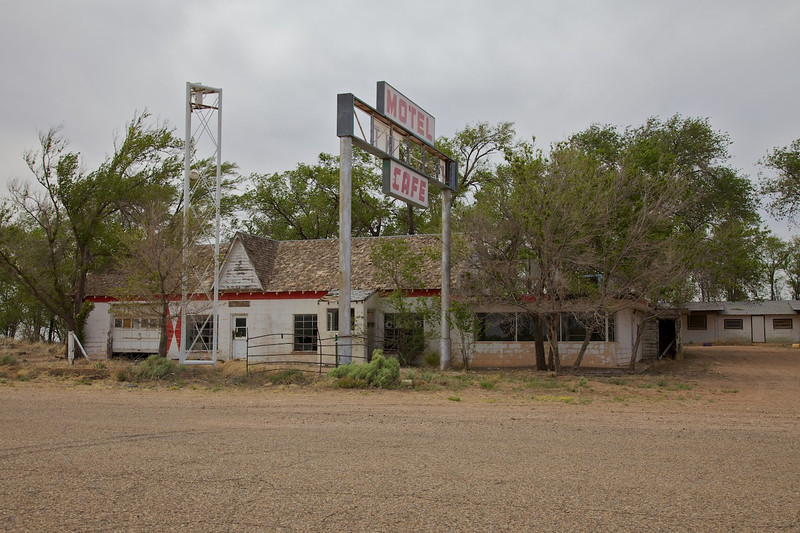 """Day 8: The famous """"Last Motel in Texas/First Motel in Texas"""" in the ghost town of Glenrio, TX."""