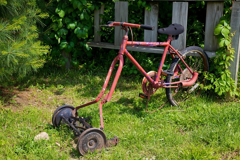 Day 4: The first power mower, Fanning, MO.