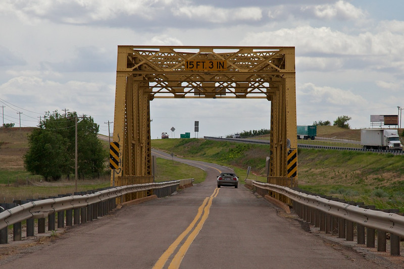Day 7: Another cool bridge and another example of how Route 66 parallels the interstate.