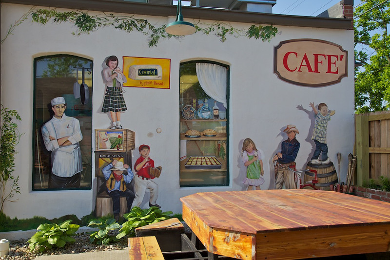 Day 4: Murals at the 'Back in the Day Cafe' in Cuba, MO.