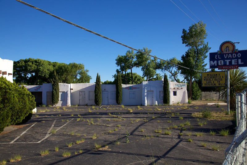 Day 9: The famous El Vado Motel in Albuquerque, NM.  It was scheduled for demolition but the city stepped in to save the historic motel in 2008.