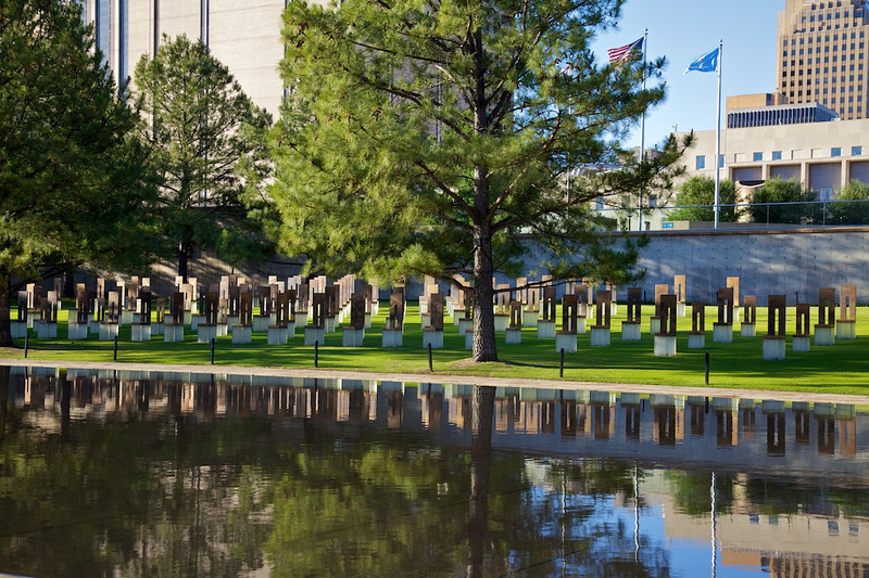 Day 7: We took a small detour from Route 66 to visit the Oklahoma City Memorial.  A visit is highly recommended if you are ever in Oklahoma City.