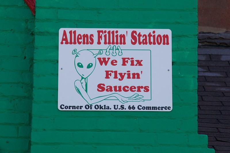 Day 6: Allens Fillin' Station in Commerce, OK.