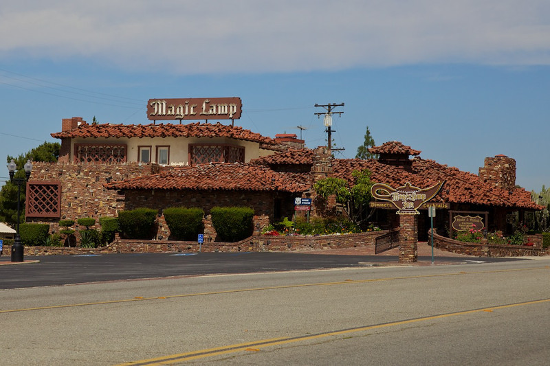 Day 14: The unique Magic Lamp Inn restaurant in Rancho Cucamonga, CA.