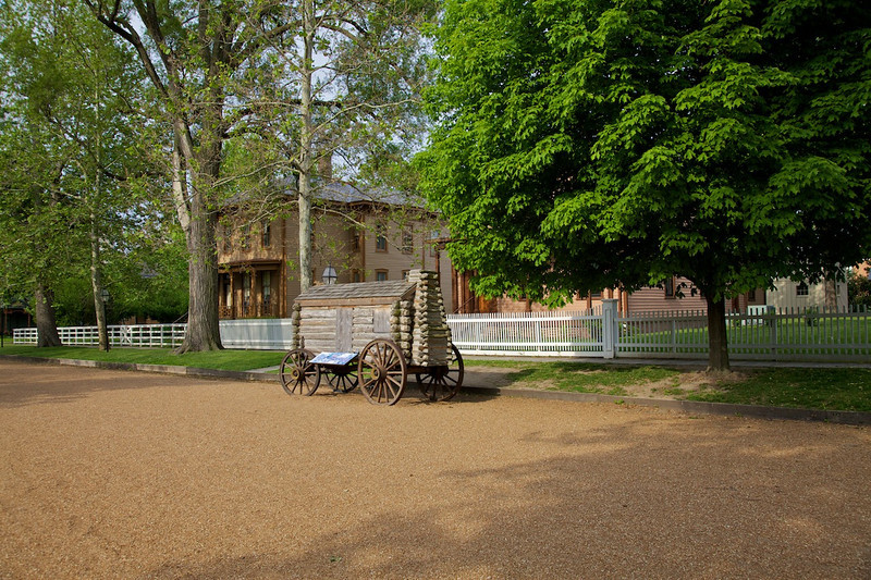 Day 2: The streets and wooden curbs reflect the original 1860's appearance.