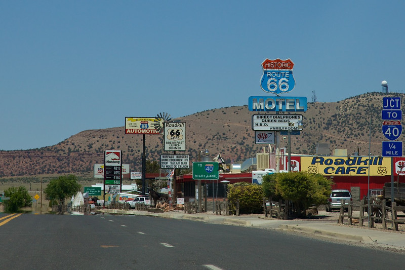 Day 12: Seligman is a very popular tourist destination for Route 66 travelers.  (They show up by the bus loads!)