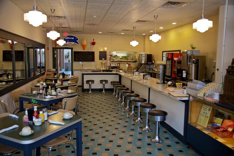 Day 1: Inside the Palms Cafe in Atlanta, IL.
