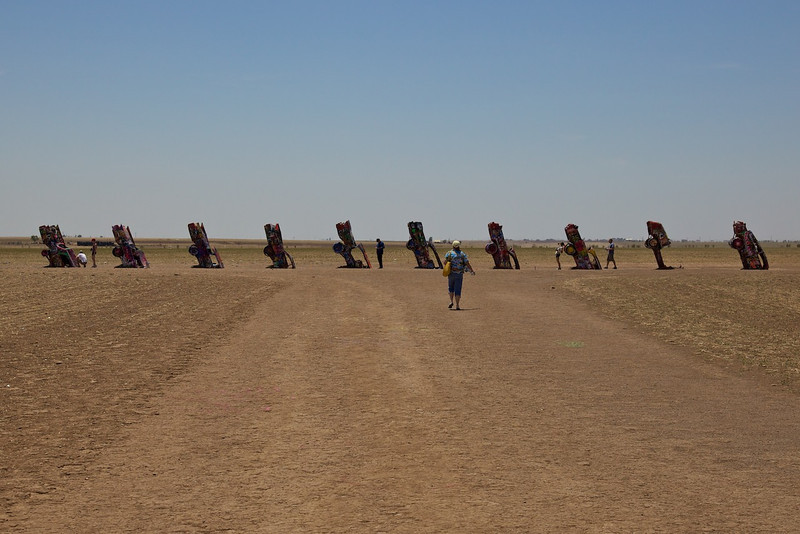 Day 8: The Cadillac Ranch in Amarillo, TX.