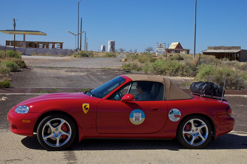 Day 11: At Two Guns ghost town, Two Guns, AZ.