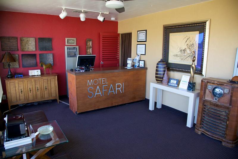 Day 9: The lobby at the Motel Safari.