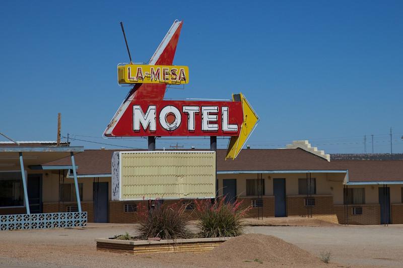 Day 9: The La Mesa Motel in Santa Rosa, NM.