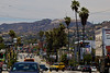 Day 14: The famous Hollywood sign is briefly visible from Route 66 just before you head west to Santa Monica.