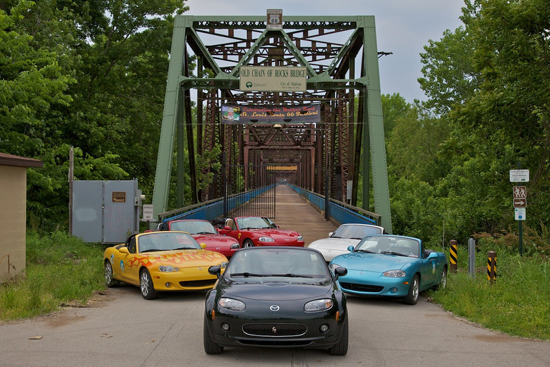 Day 2: Now closed to vehicles, the Chain of Rocks Bridge was once the way Route 66 travelers crossed the Mississippi.