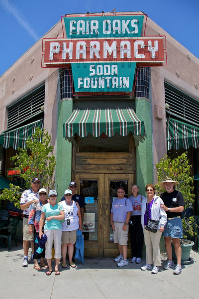 Day 14: The Fair Oaks Pharmacy and Old Fashioned Soda Fountain in Pasadena, CA.  The Fair Oaks is located along an older alignment of Route 66.