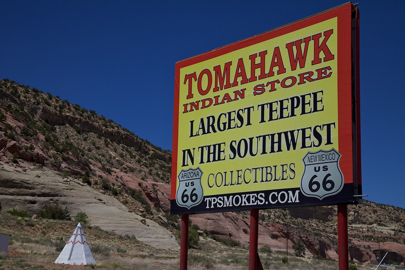 Day 10: At the Tomahawk Indian Store near Lupton, AZ.