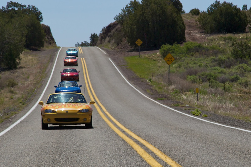 Day 12: Traveling the wonderful section of Route 66 between Ash Fork and Seligman, AZ.