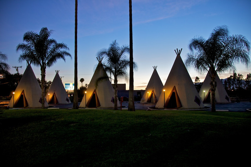 Day 13: The WigWam Motel in San Bernardino has been very nicely restored by owner Kumar Patel.  It's a must-stop for every Route 66 traveler.