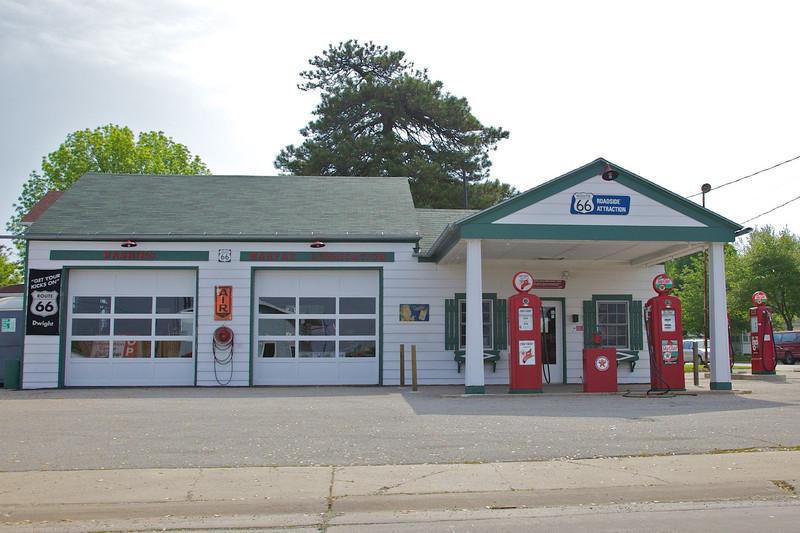 Day 1: Ambler-Becker Texaco gas station in Dwight, IL.