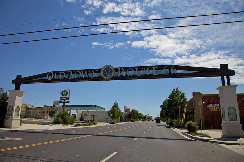 Day 13: Entering downtown Victorville, CA.